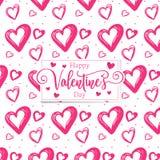 Nette romantische Herzen valentine' s-Tagesmusterhintergrund stockbilder