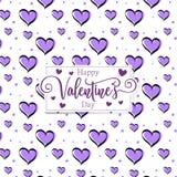 Nette romantische Herzen valentine' s-Tagesmusterhintergrund lizenzfreie stockfotos