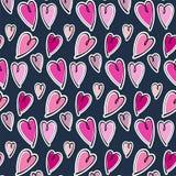 Nette romantische Herzen valentine' s-Tagesmusterhintergrund lizenzfreie stockfotografie