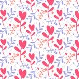 Nette romantische Herzen valentine' s-Tagesmusterhintergrund stockfoto