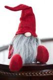 Nette rote Weihnachts-Sankt-Elfe Lizenzfreie Stockfotografie
