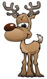 Nette Rotwild-Zeichentrickfilm-Figur-Illustration lizenzfreie abbildung