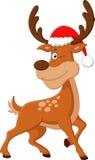 Nette Rotwildweihnachtskarikatur Lizenzfreies Stockfoto