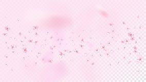 Nette Sakura Blossom Isolated Vector Blumenblatt-Hochzeits-Entwurf des Sommer-Fliegen-3d Japanische Natur-Blumen Valentinsgruß, M lizenzfreie abbildung