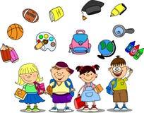Nette Schüler und Schulmädchen Stockfoto