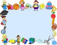 Nette Schüler und Schulmädchen, Vektor Stockbilder