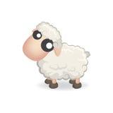 Nette Schafe in der flachen Art Stockbilder