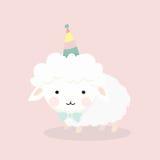 Nette Schafe in der flachen Art Stockbild