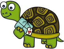Nette Schildkröte mit Geschenk Lizenzfreie Stockfotografie