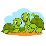 Nette Schildkrötenfamilie. Lizenzfreie Stockbilder