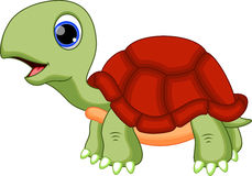 Nette Schildkrötenkarikatur Lizenzfreies Stockfoto