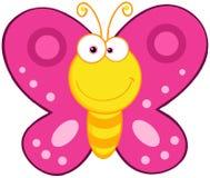 Nette Schmetterlings-Zeichentrickfilm-Figur Stockbilder
