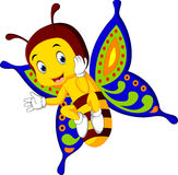 Nette Schmetterlingskarikatur Stockfotografie
