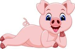 Nette Schweinkarikatur stock abbildung
