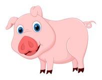 Nette Schweinkarikatur Lizenzfreies Stockfoto