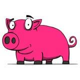 Nette Schweinkarikatur. Vektorillustration Lizenzfreies Stockbild