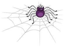 Nette Spinne auf Web Stockbild