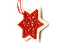 Nette Stern Weihnachtsverzierung Stockbilder