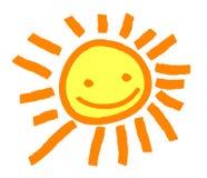 Nette Sun-Lächeln-Illustration Stockbilder