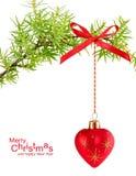 Nette tak met de bal van Kerstmis Royalty-vrije Stock Afbeeldingen