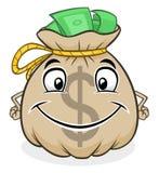 Nette Tasche mit Geld Lizenzfreie Stockfotografie