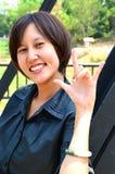 Nette thailändische Dame Stockfoto