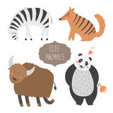 Nette Tier-Ansammlung stock abbildung