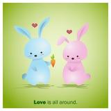 Nette Tier-Sammlungs-Liebe ist alle herum 2 Stockfoto