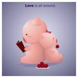 Nette Tier-Sammlungs-Liebe ist alle herum 6 Stockbild