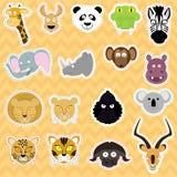 Nette Tiere - Illustrationssatz Stockfoto