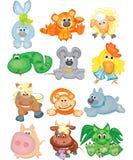 Nette Tiere, lustiges Horoskop. Lizenzfreies Stockbild