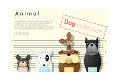 Nette Tierherkunft mit Hunden Lizenzfreies Stockfoto