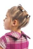 Nette tragende Frisur des kleinen Mädchens Lizenzfreie Stockfotos
