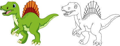 Nette Triceratopskarikatur Stockbilder