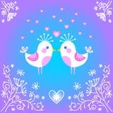 Nette Vögel, die sich verlieben. Lizenzfreies Stockbild