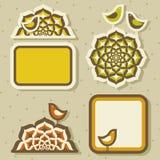 Nette Vögel und Arabesken. Lizenzfreie Stockbilder