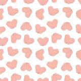 Nette Valentinsgruß-Tagesillustration Heiratendes nahtloses Muster mit Origamiherzen Stockbilder