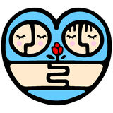 Nette Valentinsgrußkarikatur Stockbilder