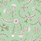 Nette Verzierung Retro- Muster Ausführliche vektorzeichnung Vector Blumen Stockfoto