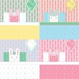 Nette vier Kaninchen. Lizenzfreie Stockbilder