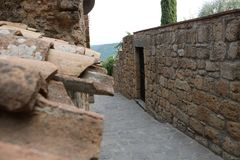 Nette viwes des historischen Monuments in Rom Lizenzfreies Stockbild