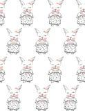 nette weiße kleine Kaninchen Lizenzfreies Stockfoto