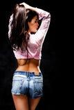 Nette weibliche Abbildung von der Rückseite Stockfotografie