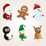 Nette Weihnachtscharaktere Stockbild
