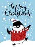 Nette Weihnachtsgrußkarte Stockfotografie