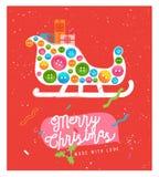 Nette Weihnachtsgrußkarte Frohe Weihnacht-Karte Stockfoto