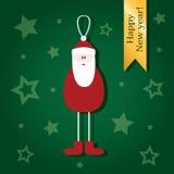 Nette Weihnachtskarten, die Santa Claus darstellen Stockfoto