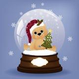 Nette Weihnachtspostkarteschablone Stockbild