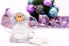 Nette Weihnachtspuppe Stockbilder