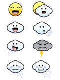 Nette Wetter-Ikonen Lizenzfreie Stockbilder
